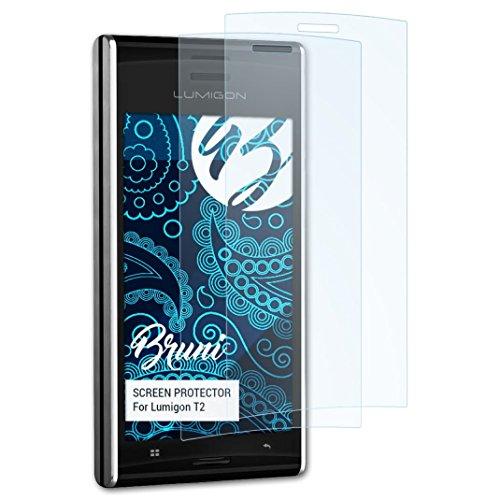 Bruni Schutzfolie für Lumigon T2 Folie, glasklare Bildschirmschutzfolie (2X)
