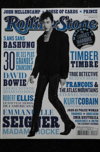 ROLLING STONE 063 L 14199 Cover Bashung Bowie Prince Ellis Seigner Timber timbre (Magazin-cover Rolling Stone)