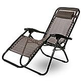 Merax Gartenliege 2er Set klappbare Sonnenliege Strandliege Liegestuhl verstellbar mit Kopfkissen Relax-Liegestuhl Textilene (Braun)