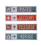 Plaques Décoratives Murales Ski en Bois pour Décoration Chalet