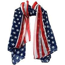 89db5da91e27 Echarpes et foulards Amlaiworld Femmes Mode Mousseline de soie douce Écharpe  drapeau Écharpes Drapeau Américain Tirages