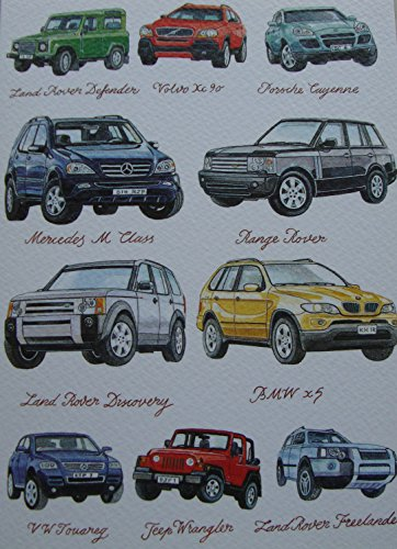 4x4s-greetings-card-range-rover-bmw-x5-land-rover-volvo-porsche-jeep