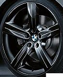 Original BMW Alufelge 3er E90 E91 E92 E93 Sternspeiche 199 Schwarz matt in 19 Zoll für vorne