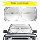 Hippo Sonnenschutz Auto Sommer, Sonnenblende Frontscheibe für SUVs, LKWs und Autos Mit UV-Schutz Sonnenschirm Nylon Größe oder Silber (35