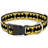 Buckle Down Bat Signal 3gelb/schwarz/gelb Kunststoff Clip Halsband