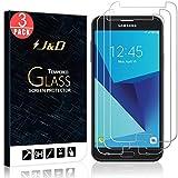 JD Compatible para 3-Pack Galaxy J5 2017 Protector de Pantalla, [Cristal Templado] [NO Cobertura Completa] Claro Vidrio Balístico Protector de Pantalla para Samsung Galaxy J5 2017 - [No para J7 2017]
