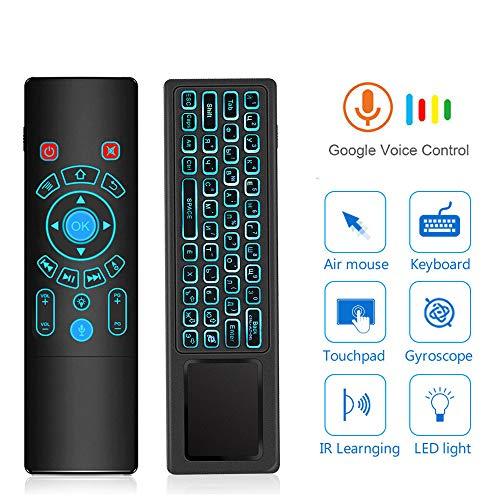 Sprachfernbedienung 2,4g Fly air Maus Mini Wireless Tastatur 7 Farben hintergrundbeleuchtung touchpad für Android tv Box