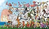 TMEET Bande Dessinée Bande Dessinée60X40Cm Hayao Miyazaki Anime Film Affiche, Café Bar Affiche Peinture Décorative Art Stickers Muraux Décor À La Maison 6