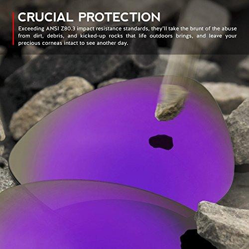 Verres de rechange pour Oakley Fuel Cell — Plusieurs options violet MirrorShield® - Non-Polarisés