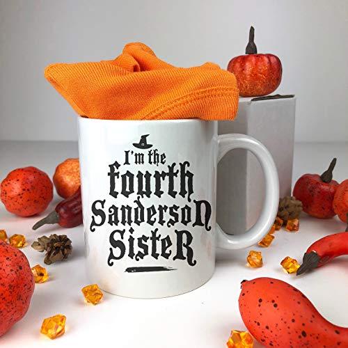 FloradeSweet Ich Bin der vierte Sanderson Schwester Keramiktasse Happy Halloween Becher Kaffeetasse Lustiges Geschenk Fallen Keramik Halloween Becher Lustige Spruch Becher