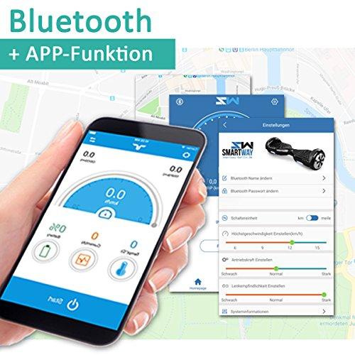 Hoverboard 6, 5 Zoll 600W-Motion V.5 mit App Funktion, Bluetooth Lautsprecher-UL2272 Sicherheitsstandard-Self Elektro Balance Scooter, 600 Watt (GoldChrome) - 2
