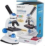 AMSCOPE-KIDS 40X-1000X Dual Illumination Microscope for Kids (Blue)