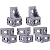 3D Techno Cast Corner Bracket for 2020 MM Series Aluminium Extrusion Profile with Nut and Bolt (10 Pieces)