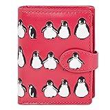 Shagwear Portefeuille , small Purse : (pingouins / Penguins Pattern Fuschia)