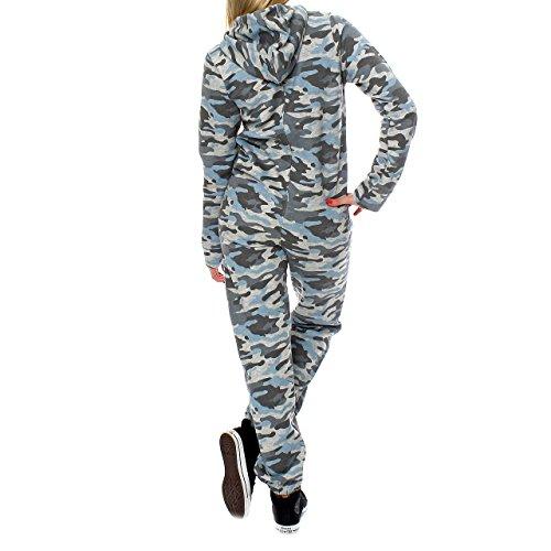 Finchgirl 81B4 Camouflage Damen Jumpsuit Jogger Grau - 2