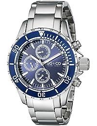 SO & CO New York 5038.2 - Reloj de cuarzo para hombres, plateado