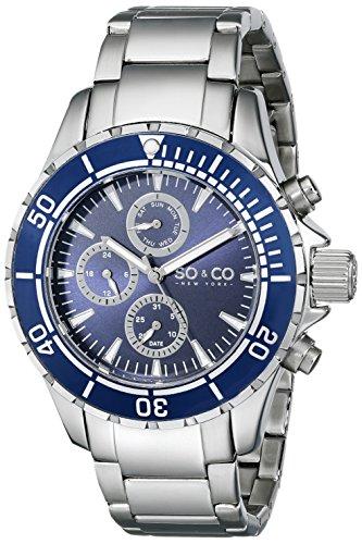 SO&CO New York Yacht Club Herren-Armbanduhr Analog Quarz Edelstahl - 5038.2