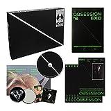 EXO 6th Album - OBSESSION [ EXO ver. ] CD + Photobook + Lyrics Book + Folded Poster(On Pack) + Photo Slide + Photocard + OFFICIAL POSTER + FREE GIFT / K-pop Sealed
