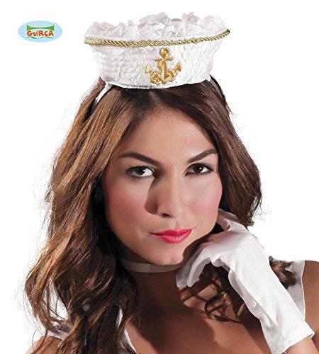 Mini Matrosen Mütze auf Haarreif für Damen (Sexy Marine Seemann)