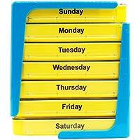 Preisvergleich für PuTwo Pillendose Tablettenbox 7 Tage Pillenbox Medikamentendosierer - Blau und Gelb