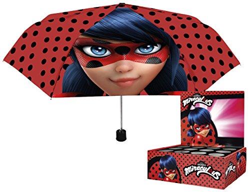 PERLETTI perletti7526250x 8cm niña Mini 3secciones miraculous-lady Bug impreso paraguas a prueba...