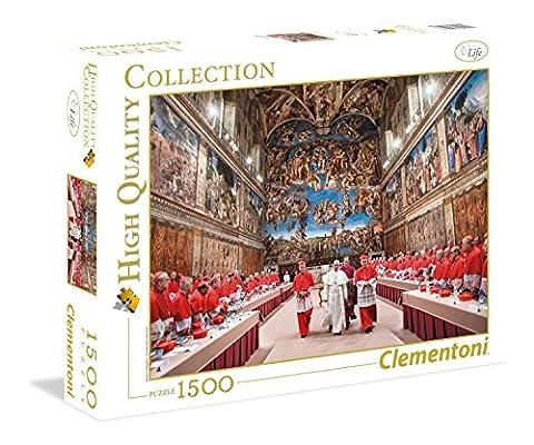 Clementoni 31598.7 - 1500 T High Quality Collection Papst Franziskus, Klassische Puzzle (Bilder Papst Franziskus)