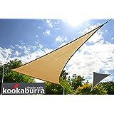 Kookaburra Toldo Vela de Sombra Para Jardín - Resistente al Agua - 3.6m Triangular Arena