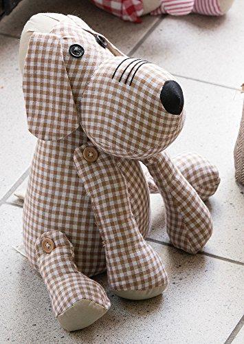 Unbekannt 41068 - Cane fermaporta, motivo a scacchi, 23 cm