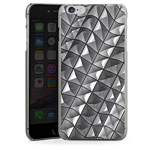 Apple iPhone X Silikon Hülle Case Schutzhülle Muster Nieten Kristall Hard Case anthrazit-klar
