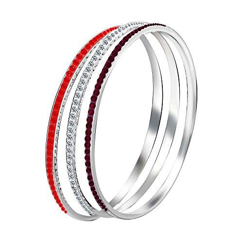 Uloveido Tennis Armband Band für Frauen Mädchen Geschenk für Freund Abschluss mit Weiß Rot und Lila CZ erstellt Diamant YL009