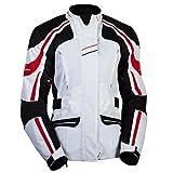 Motorrad Damen Textil Jacke LIME NIKITA red Größe 42