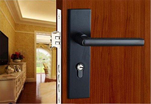 GaoHX LOCK~ Solide Raumaluminiumtürschlösser Continental Schlafzimmer Zimmertür Lager (Color : Weiß)