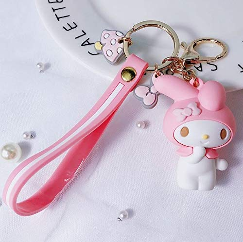B123 Action & Toy Figures - Pc Creative Sanrio Series My Melody Pudding Cinnamoroll Dog Hello Kitty Keychain Bag Pendant Keyring for Girls Figure Toy - by 1 PCs