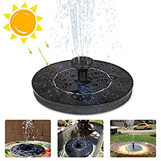 Eletorot Solar Water Fountain, 1.2W Garden Solar Fountain Pump Solar Pond Pump, Floating Fountain Pump for Garden Decoration, Bird Bath, Pond, Fish Tank, Pool, Water Cycling