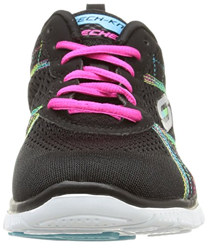 Skechers - Flex Appeal totally Fab, Sneaker basse Donna Black/Multi