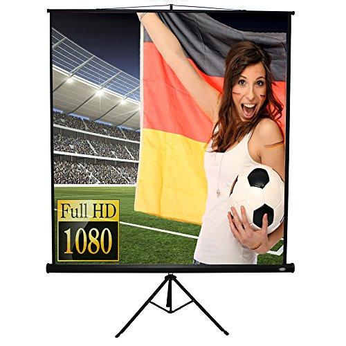 Beamer Leinwand Heimkino 203x152cm (Diagonale ca. 254cm / 100 Zoll) HDTV inkl. Stativ