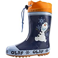 Disney Frozen Olaf Tie Top Wellington Boots
