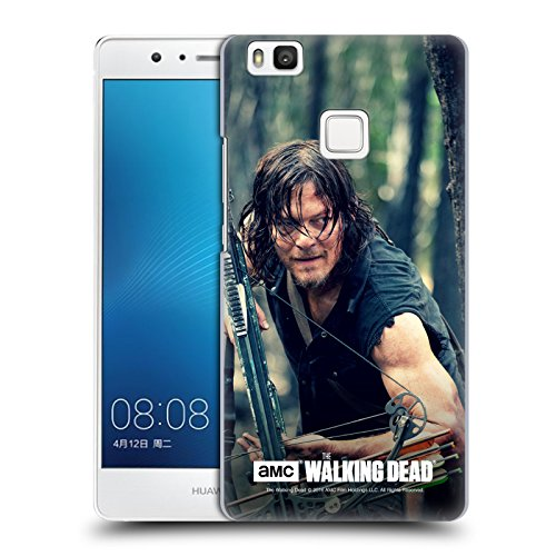 Ufficiale AMC The Walking Dead Nascondersi Daryl Dixon Cover Retro Rigida per Huawei P9 lite / G9 Lite