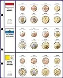 Lindner Vordruckblatt EURO COLLECTION: Kursmünzensätze Monaco/San Marino/Vatikan 8450-13, Vordruckblatt inkl. Münzblatt