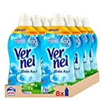 Vernel Suavizante Cielo Azul - Pack de 8, Total: 456 Lavados (10.4 L)