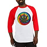 Best T Shirts Funny Buds Shirt For Men - CafePress - Pothead Tiedye - Cotton Baseball Jersey Review