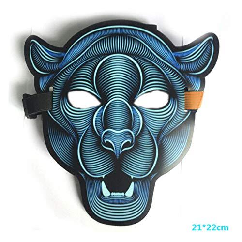 Pop Tänzer Kostüm - MASKUOY Halloween-Maske Halloween Scary Led Leuchtende Blinkende Gesichtsmaske Leuchten Flash Wire Party Festival Kostüm Party Maske Cosplay Pop