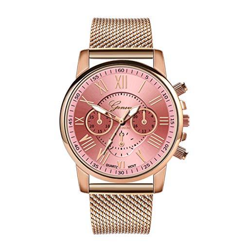 VECDY 2019 Urh Damen Luxury Quartz Sport Military Stainless Steel Dial Leather Band Wrist Watch Mode zu sehen