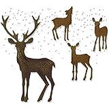 Sizzix 662426 Thinlits Stanzschablonen-Set 5 Stück - Winterwunderland von Tim Holtz, Stahl, mehrfarbig, 19.10 x 14.4 x 0.4 cm