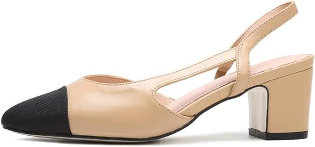 Sandalen High Heels Viereckiger Kopf Für Damen Mit Einzelnen