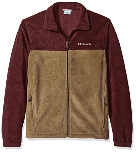 Columbia Men's Big and Tall Cascades Explorer Full Zip Fleece Jacket, Elderberry, Trail, Small Mens Explorer Jacket