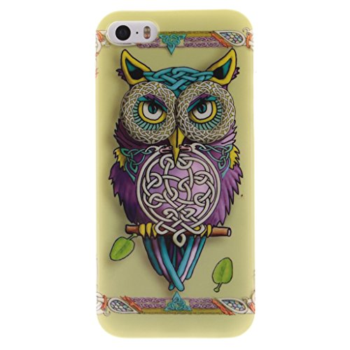 MYTHOLLOGY iphone 5s Coque -iphone 5 /iphone SE Coque, Silicone Doux TPU Protection Housse Cover Case Nuage CSMTY