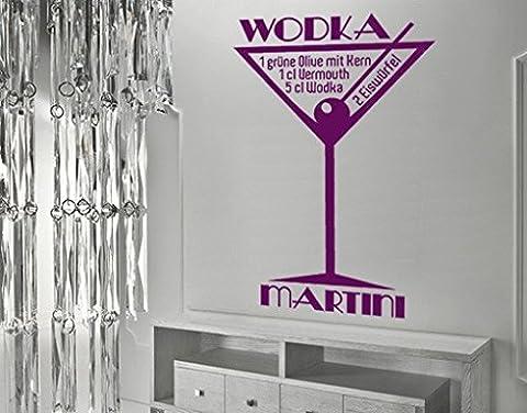 Wandtattoo No.JO35 Wodka Martini Cocktail Rezept Party wodka Alkohol, Farbe:Grün;Größe:184cm x (Grün Wodka)