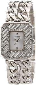 Guess - W0126L1 - Montre Femme - Quartz Analogique - Cadran Argent - Bracelet Autre Argent
