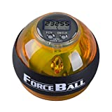 LINJU Force ball,Hand Unterarm und Handgelenk Stärke Übung Bälle, Wrist ball mit LCD Zähler und LED Licht (yellow)